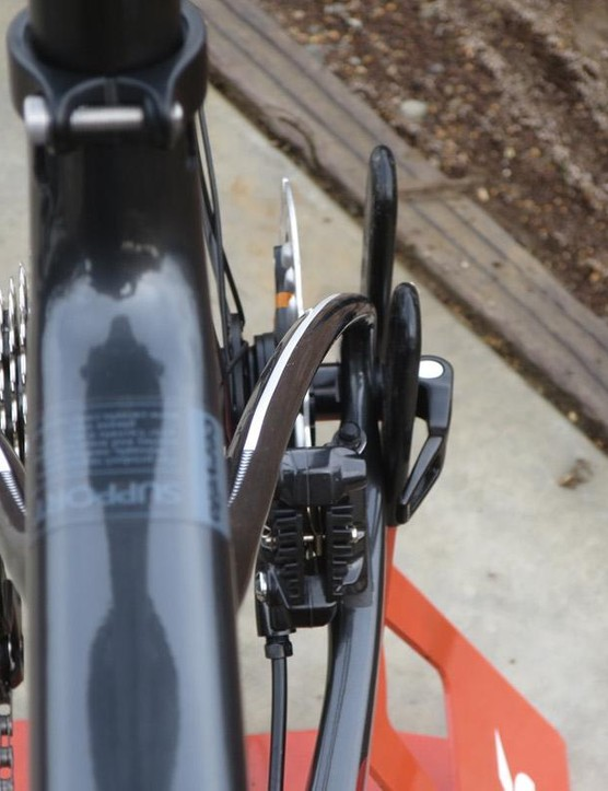 The C seatstays follow a different path