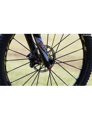 Barel uses the new RockShox Lyrik 170mm
