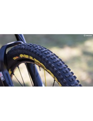A longtime Mavic development rider, Barel uses 2.4in rubber from the French company