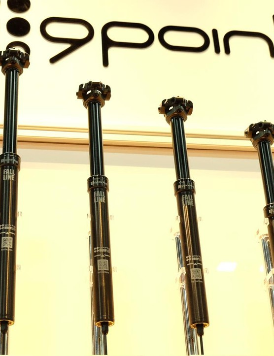 Longer droppers are on their way. 9point8 is working on 175mm and 200mm versions of its Fall Line seatpost