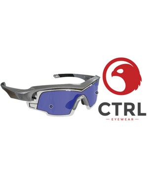 The Andy Schleck version of the CTRL ONE sunglasses comes with a chrome frame and blue/purple lenses