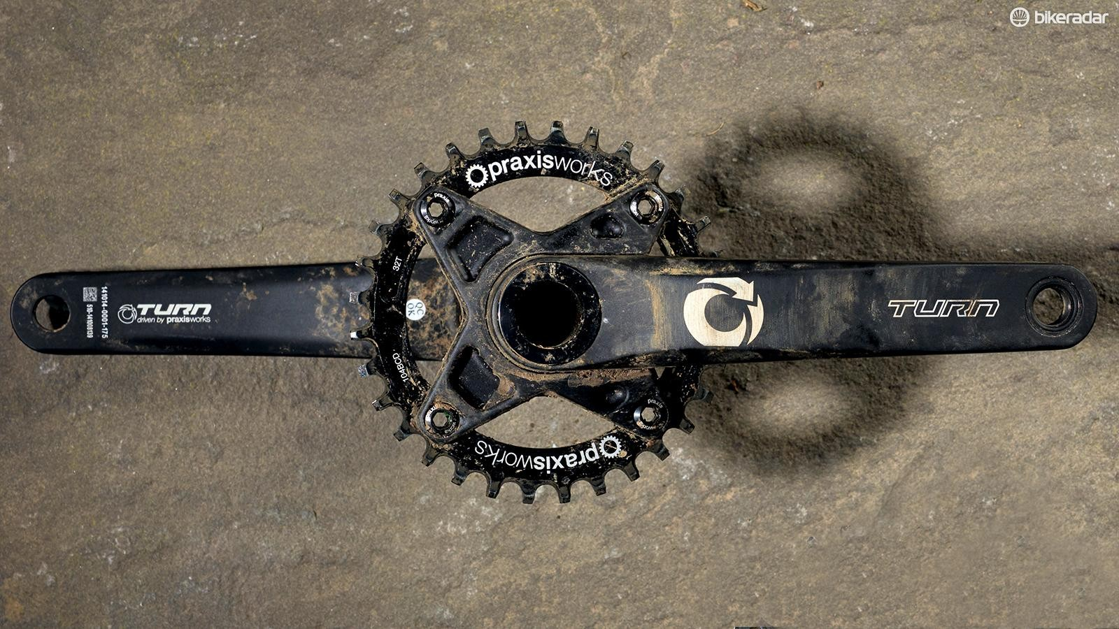 Praxis' Works Turn Girder M30 cranks have an almost medieval quality to them