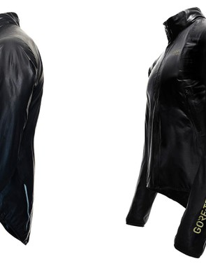 The new One Gore-Tex Active cycling jacket is shockingly light at 133g (claimed, size large) and packs down incredibly compactly. The jacket is decidedly minimal, however, with just one side pocket. Currently, the company is only able to make the material in black, which limits nighttime visibility