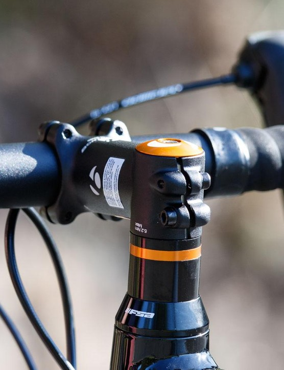 Plentiful headset spacers allow for a wide range of handlebar height adjustment