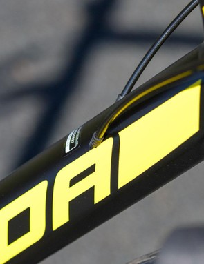 The Merida frame is impressive for the price. Internal cable routing is one example of why