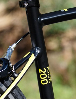 There are plenty of unique details to the Merida Ride's frame. Note the shaped seatstays that connect low down on the seat tube