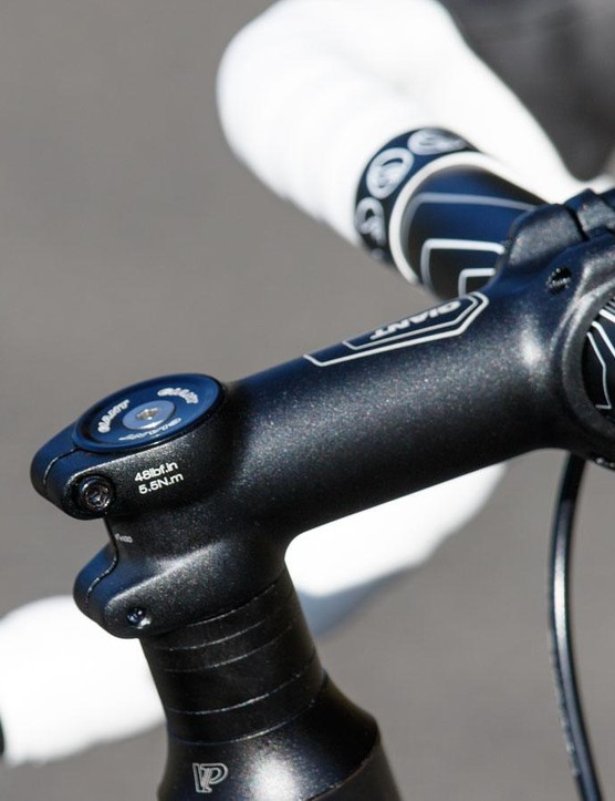 The Giant Defy offers an upright ride position, with plenty of handlebar height adjustment available