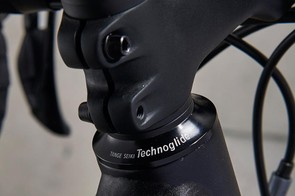 Spacers above the stem give you a bit of adjustability