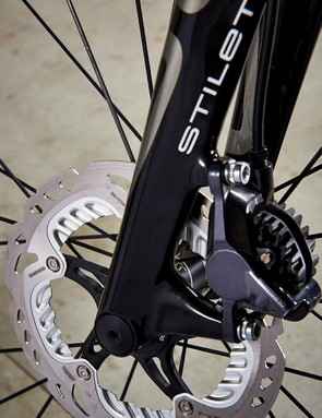 Shimano's hydraulic brakes were nigh-on faultless