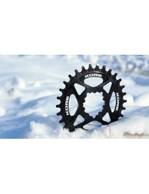 KORE enters the narrow/wide chainring market with the new Stronghold, which will be offered in both SRAM direct-mount and standard four-arm 104mm BCD fitments
