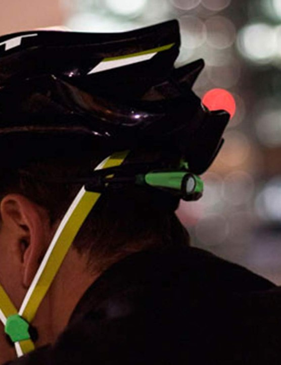 Reflective straps, a shell that glows and an integrated rear light