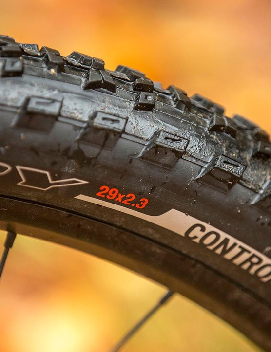 Specialized's Roval 29s aren't the stiffest wheels but they're light and their extra width gives good tyre support in the corners