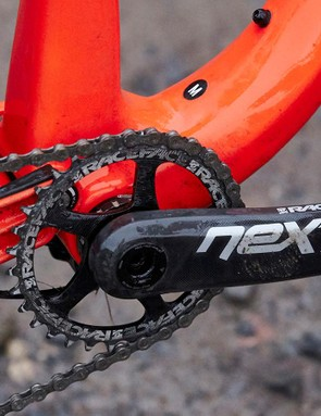 With no front derailleur to worry about, Whyte has been able to widen the main pivot, helping to bolster frame stiffness