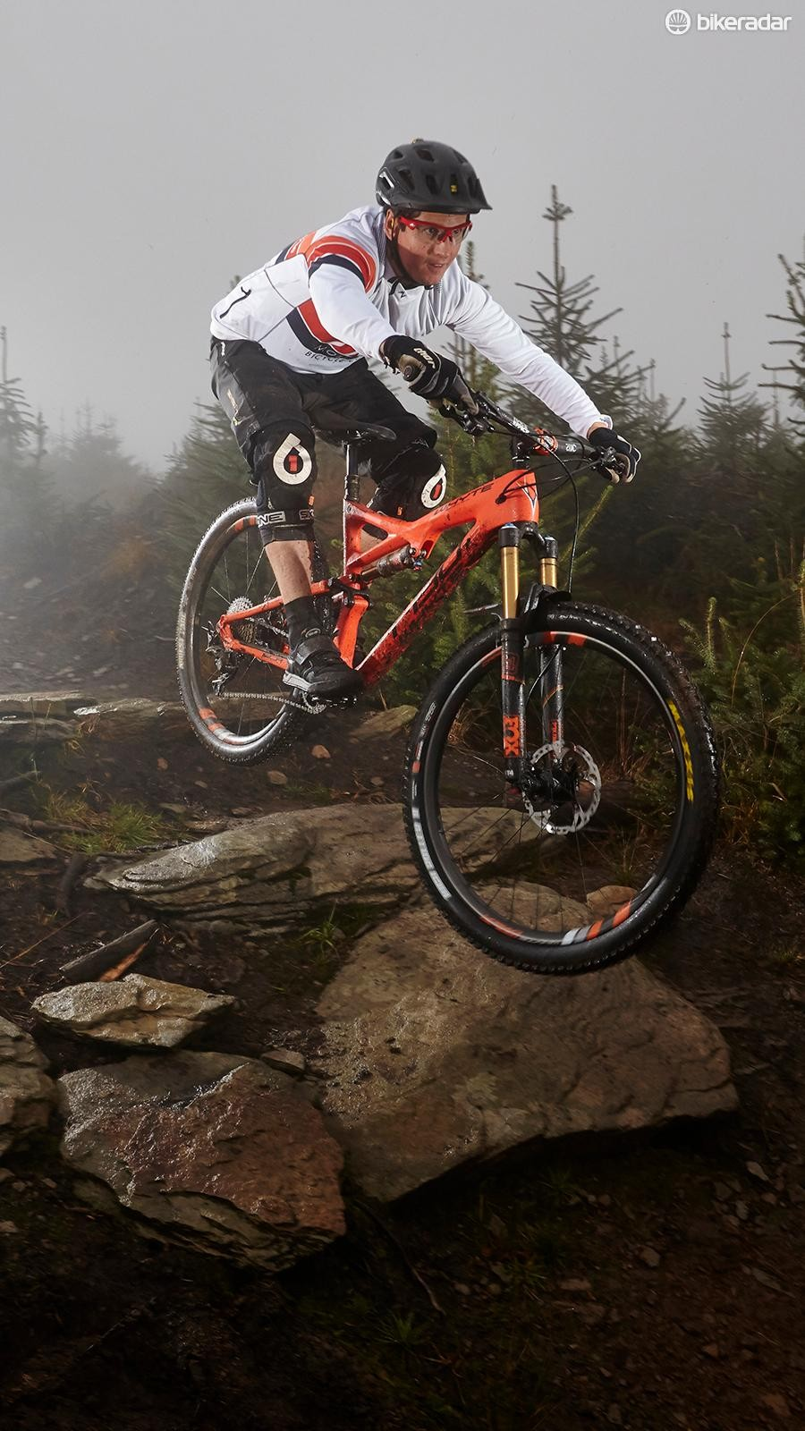 The low, long and slack geometry makes the T-130 C feel like a far more capable bike than its 130mm of travel might suggest