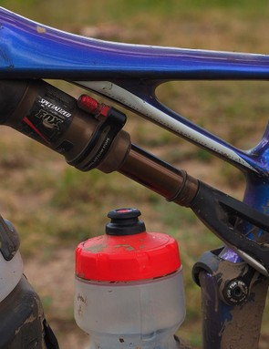 The rear shock is remarkably tiny but when you factor in the remote reservoir and long hose, there's actually quite a bit of oil volume. The Specialized-exclusive AutoSag feature is absolutely awesome