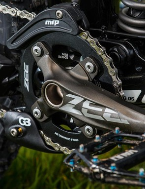 Shimano Zee kit isn't the 'shoutiest' but it's solid and reliable, like the rest of this build