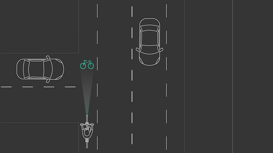 The Blaze lights aim to increase safety by, for example, alerting cars at junctions that a cyclist is approaching