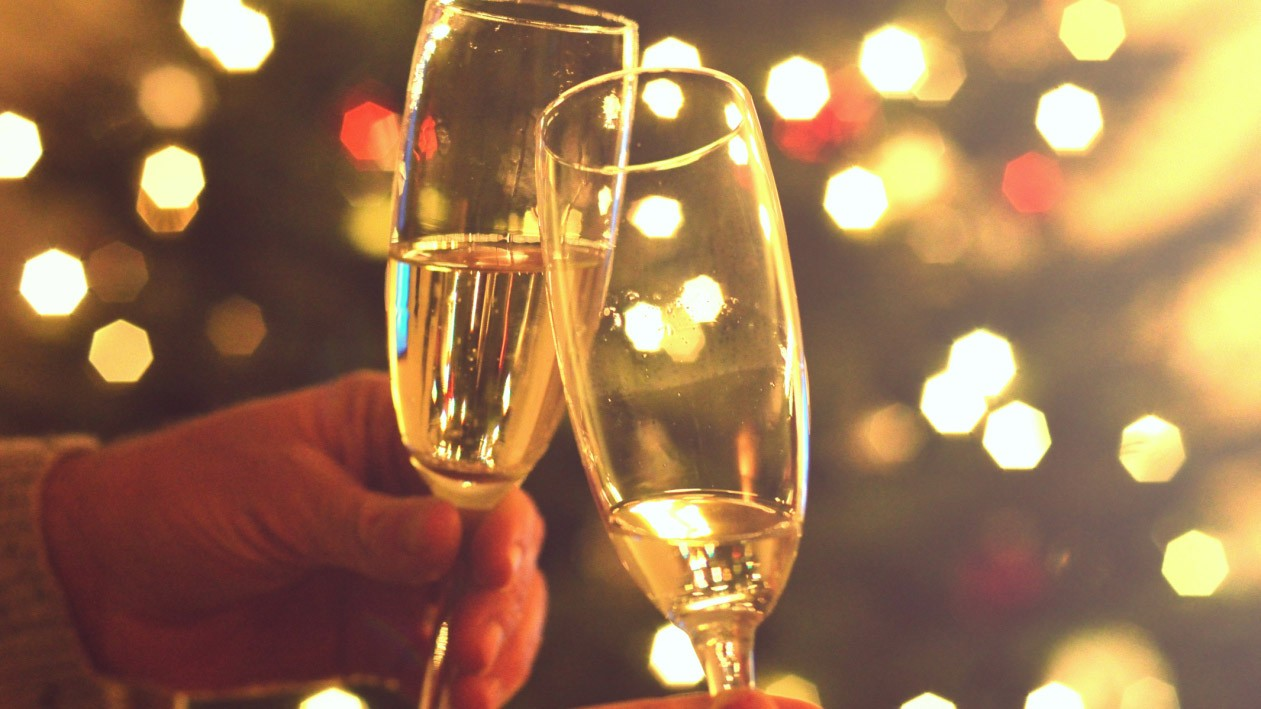 Good news: sparkling wine is a totally appropriate festive drink
