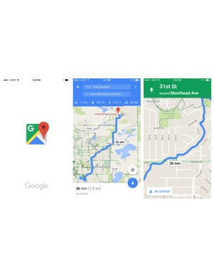 While you wouldn't want to use it for a long ride, Google Maps' combination of Google search plus touchscreen, bike-specific navigation is excellent
