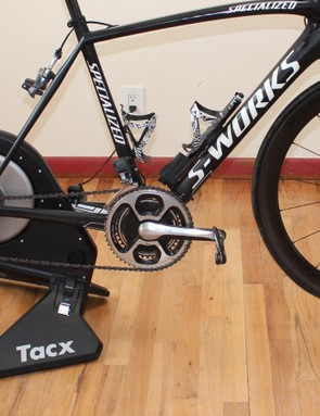 The Tacx Neo Pro is a smart trainer that can be controlled over ANT+ or Bluetooth by third-party software