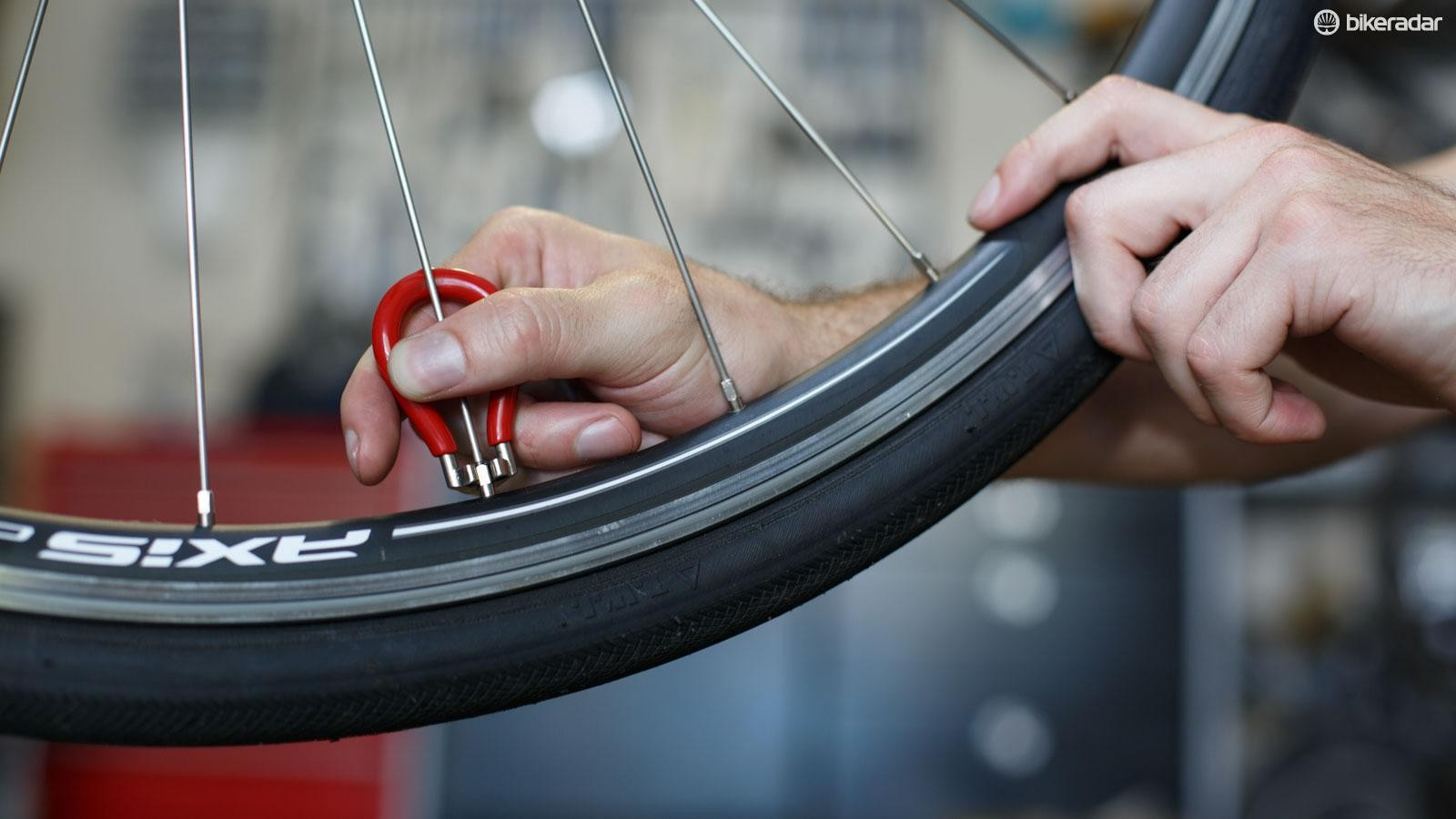 If you're tuning your own wheels, be sure to not only tighten the spokes. It is possible to overtighten them