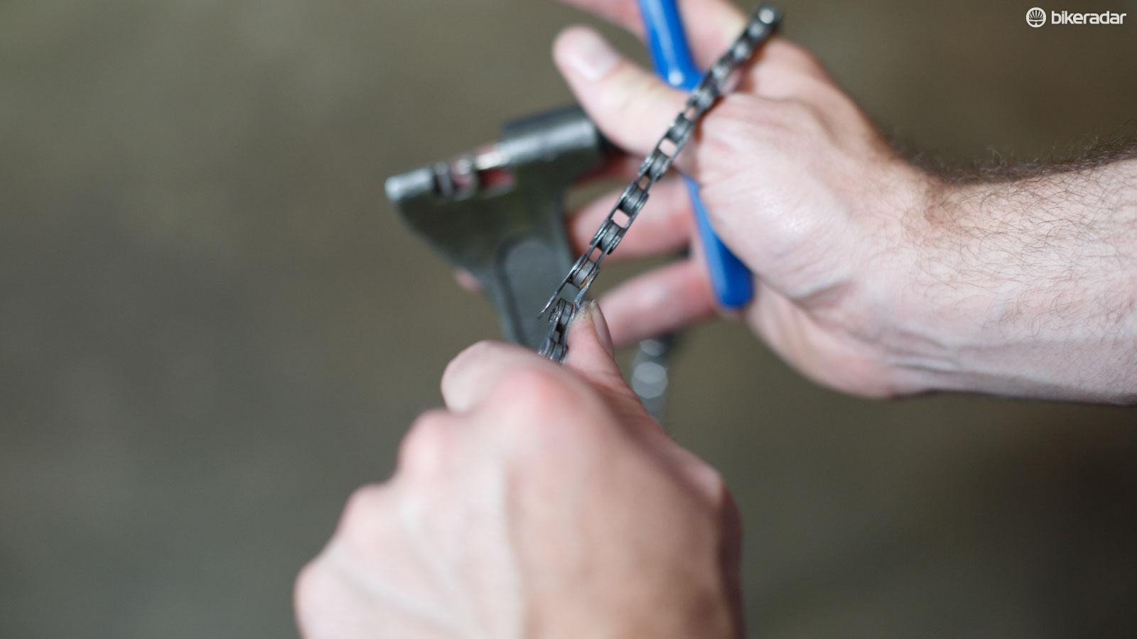 Be wary of damaged chain links