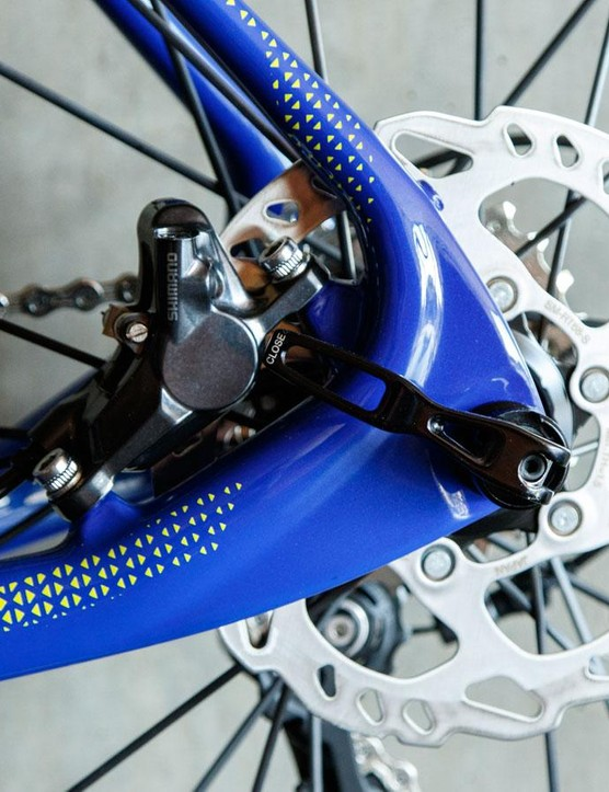 This is a disc brake, much like what is found on modern cars and motorbikes