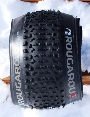 The 26x3.8in Rougarou is a fat bike tyre designed for speed over hardpack and groomed snow