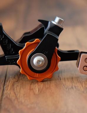 The Klamper uses Cool Stop brake pads designed for Avid's Elixrs