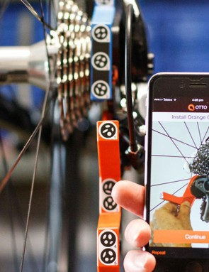 The Otto derailleur tuning system uses a phone app to talk you through the process of getting your gears dialled