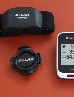 Polar M450 GPS cycling computer and included heart-rate strap