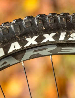 The 30mm wide Easton rims increase already impressive grip levels by fattening up the contact patch and stabilising the Maxxis rubber, but don't help rolling speed