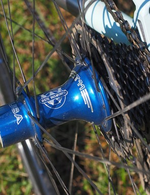 Engin Cycles offers bare frames or complete bikes. The latter uses handbuilt wheels laced on to White Industries hubs – a popular choice among the cottage builder crowd