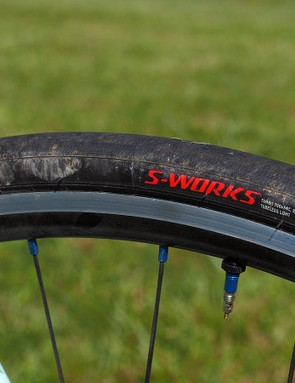 A Specialized tyre on a custom bike like this may seem like blasphemy to some but a good tyre is a good tyre