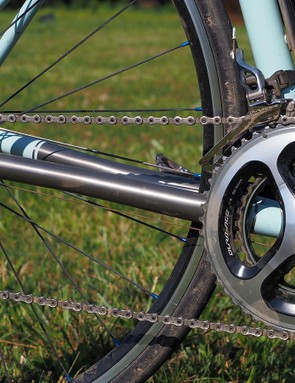 You might think that custom builders would personally favour Campagnolo for themselves but the reality is that as good as they are, the Italian company's bits just don't present nearly as good a value as Shimano Dura-Ace