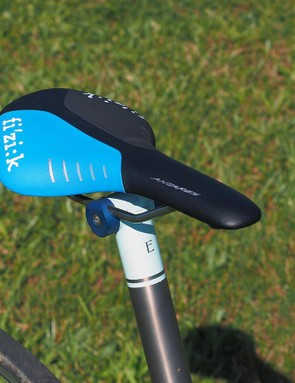 The custom colours on this Fizik Antares saddle provide the perfect finishing touch