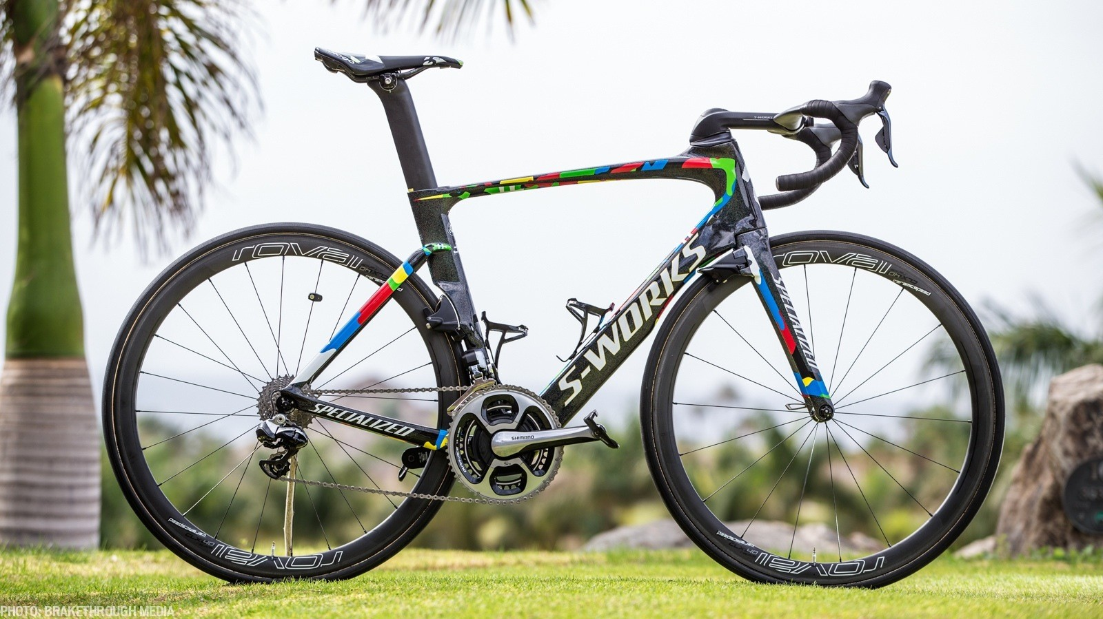 The custom-painted Specialized S-Works Venge ViAS of world champion Peter Sagan