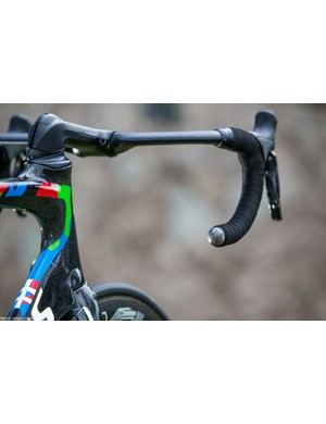 With the exceptions of the saddle, pedals and component group, Specialized has the Tinkoff bikes covered tip to tail