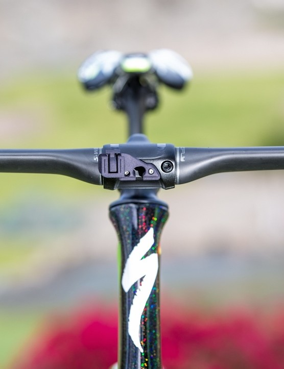 Sagan's SRM mount fits onto the stem face mount