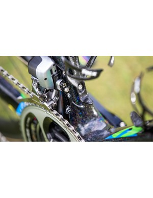 Shimano's Dura-Ace Di2 is so reliable there is hardy a need anymore, but the K-Edge chain catcher probably provides some peace of mind