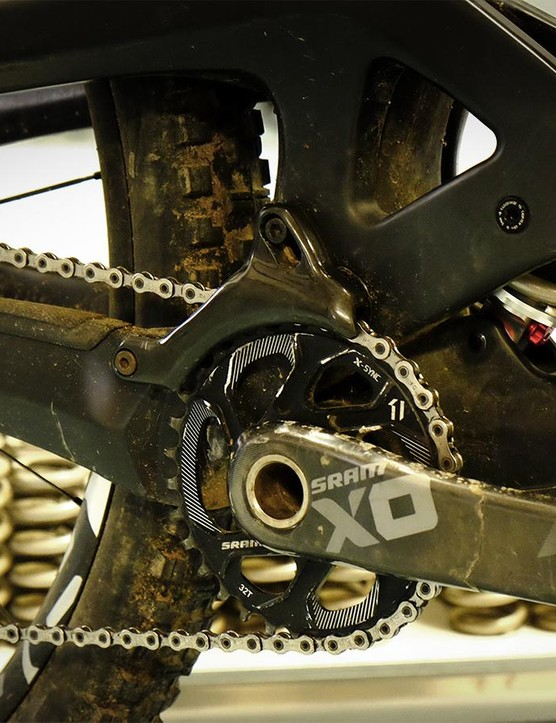 Like The Insurgent, The Wreckoning is designed for single-ring drivetrains and comes with an integrated chainguide