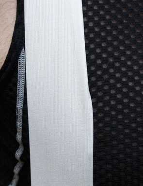 Wide and flat bib straps are comfortable and stay in place perfectly
