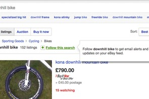 Saved searches can save you from missing that bargain bike