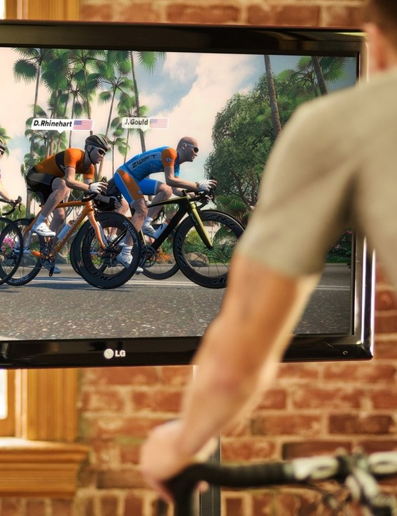Zwift's virtual riding software is probably the best application for the Kickr Snap. As you ride uphill, resistance ramps up, and as you draft behind another rider, resistance goes down