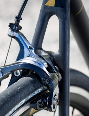 Shimano Dura-Ace brake calipers are always reliable and can be trusted in a range of conditions