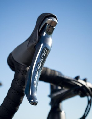 While the 1.5 comes stock with Dura-Ace mechanical, the frame accepts electronic drivetrains