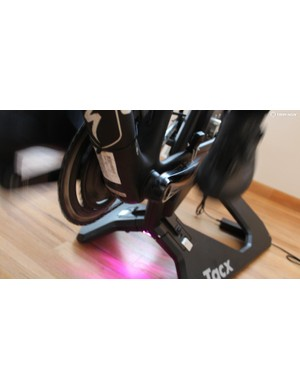 The Neo Power has various LED lights that change based on pedaling intensity