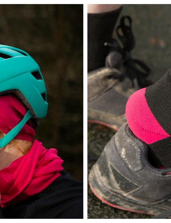The Endura Baabaa gift set includes a merino knit hat, neck warmer and socks