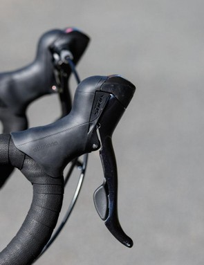 All six bikes feature Shimano Sora nine-speed gearing. The shifters are now 'STI', meaning the brake lever and the little lever behind take care of shifting duties
