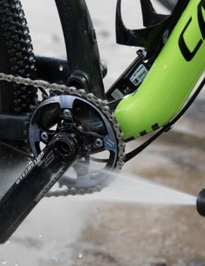 Calvin Jones of Park Tool strongly advises against using a pressure washer to clean your chain. Your chain will be fine, but other components will suffer